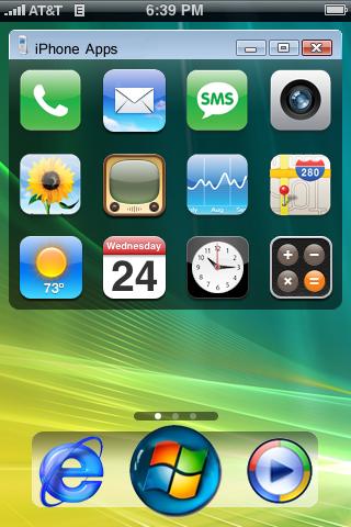 Download free iPhone Theme - Vista new - iPhone theme