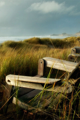 Peaceful Scene On The Oregon Coastline IPhone Wallpaper And IPod Touch Background