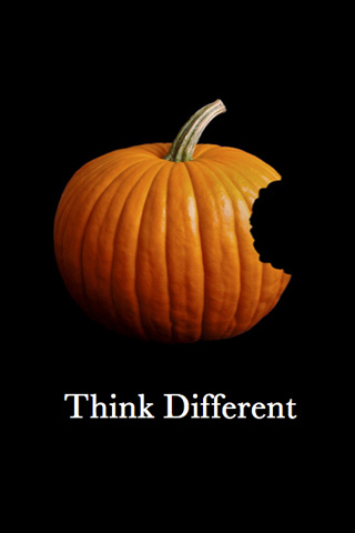 Apple Pumpkin Think Different iPhone wallpaper and iPod Touch Background