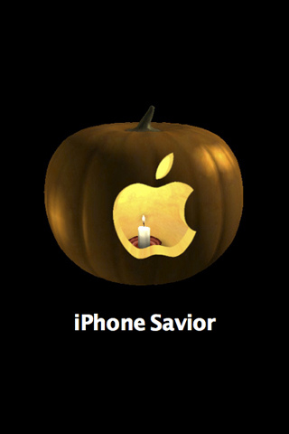 Carved Apple iPhone wallpaper and iPod Touch Background