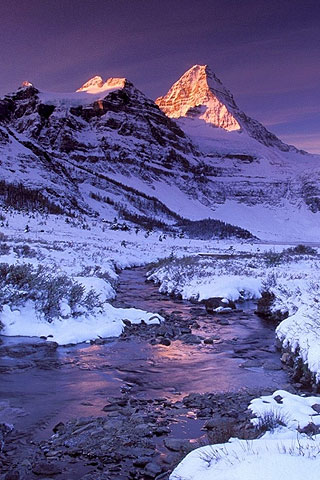 Winter In Mountain Iphone Wallpaper And Ipod Touch Background