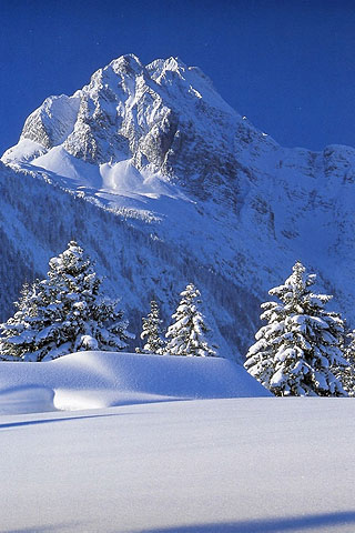 Iphone Winter Mountain Free Wallpaper Winter Mountain Iphone